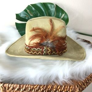 The Duke Collection cowboy boho hat tan vintage